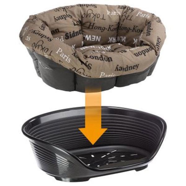 Ferplast Sofà Cushion Cities per cesta-sofà in plastica per cani