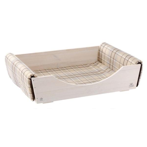 Letto per cani in legno con cuscino Ferplast